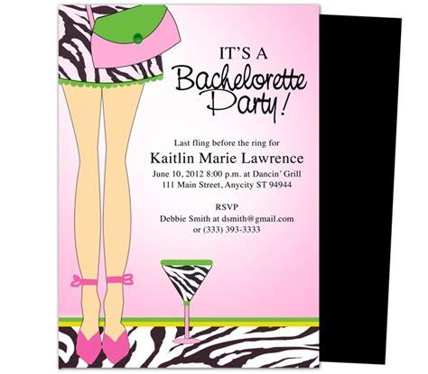 bachelorette party invitations templates legs