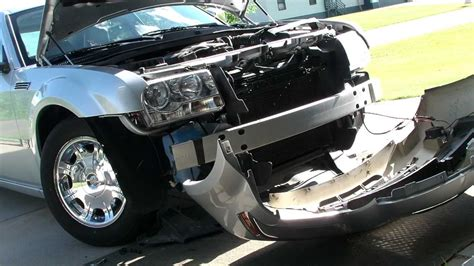 chrysler  front bumper removal step  step