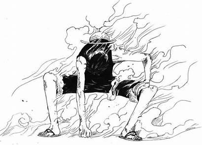 Luffy Gear Second Piece Anime Deviantart Sketches