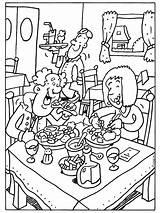 Restaurant Kleurplaat Coloring Kleurplaten Colouring Restaurants Google Eet Ober Printable Thema Zoeken Template Pencil Eten Pages Smakelijk Pixels Beroepen Koken sketch template