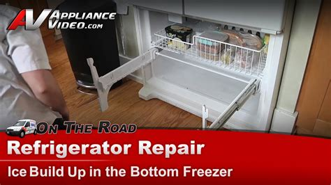 refrigerator repair ice   freezer whirlpool maytag kenmore gxfhdxvq youtube