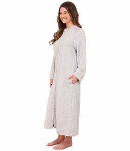 carole hochman zip robe in gray lyst With robe carole