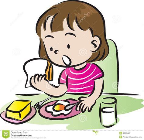toddler bed breakfast stock illustration image 44485529