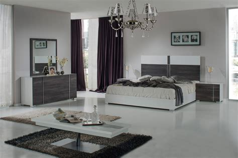 nova domus corrado italian modern white grey bedroom set