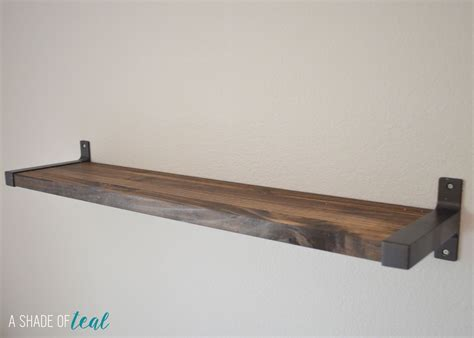 Kitchen Wall Shelving Ideas - rustic diy bookshelf with ikea ekby brackets