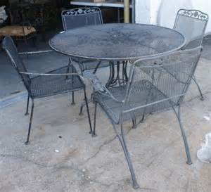 62 vintage woodard wrought iron patio furniture lot 62
