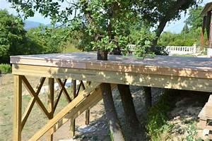 construction d39une terrasse bois en vaucluse 84 With construction de terrasse en bois