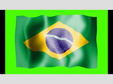 Brazil Flag Green Screen Free Royalty Footage YouTube