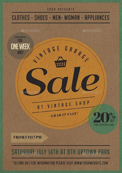 garage sale flyer templates printable psd ai