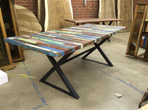 Buy a Handmade Reclaimed Dining Table, Bali Boat Wood