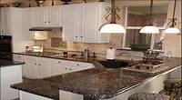 granite kitchen countertops Modern Kitchen With Brown Granite Countertops — Saura V ...