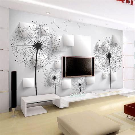 wall to wall murals aliexpress buy custom photo wallpaper 3d stereoscopic dandelion wall painting bedroom