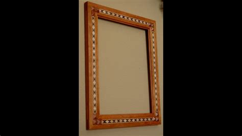 Make A Picture Frame With Diamond Inlay Banding
