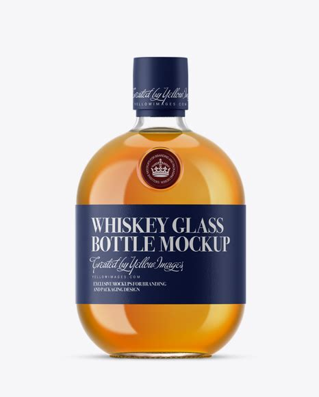 The huge source of free bottle mockup psd templates! Free Mockups Clear Glass Whiskey Bottle Mockup Object ...