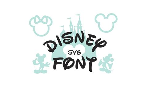 I was looking around online for some disney inspired cut files and i realized i could just make this within cricut design space for free. Disney Font SVG Collection Disney Alphabet DXF Disney ...