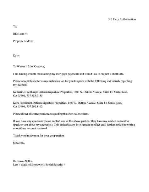 sle of authorization letter authorization letter for exle of a