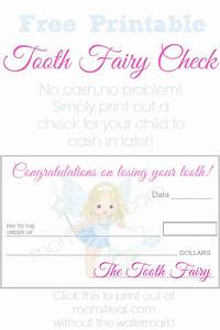Tooth Fairy Check or Money ~ Free Printable   Tooth fairy ...