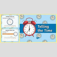 * New * O'clock And Half Past With A Numberline Powerpoint