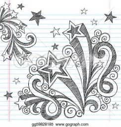 Shooting Stars Art Design Doodle