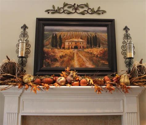 fall room decorating ideas living room fall mantle