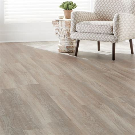 7.5 in. x 47.6 in. Crystal Oak Luxury Vinyl Plank Flooring