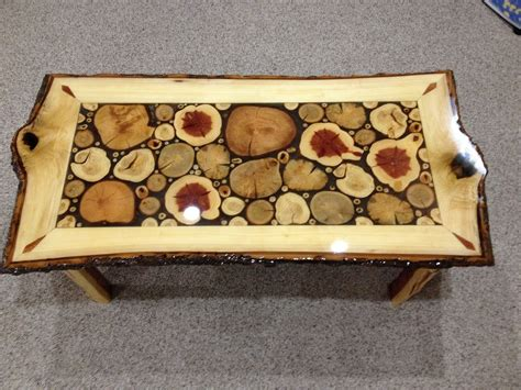 Hand Made Log Slice Coffee Tables by Live Edge Woodcrafts   CustomMade.com