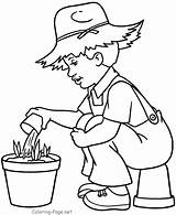 Farmer Coloring Boy Colorear Dibujos Colouring Bojanke Jobs Sheets Printemps Saison Granjero Junge Nature Granjeros Printable Elisaveta Imagen Drawing Coloriage sketch template