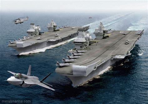 le plus gros bloc du futur porte avions britannique rejoint rosyth mer et marine