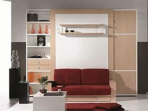 Meuble Lit Escamotable : meuble pont canape ~ Farleysfitness.com Idées de Décoration