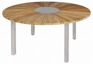 Tisch Rund 160 Cm : zebra onyx gartentisch tisch rund 160 cm aus edelstahl und recyceltem teak gartenm bel von ~ Bigdaddyawards.com Haus und Dekorationen
