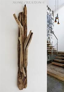 Porte Manteau Bois Flotté : porte manteau bois flotte pied 1 porte manteaux en bois flott authentique ~ Teatrodelosmanantiales.com Idées de Décoration