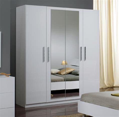 armoire chambre blanc armoire 4 portes gloria blanc blanc