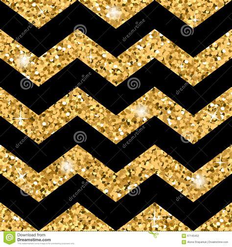 zigzag seamless pattern gold glitter  black template