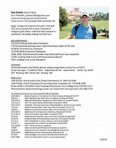 College golf resumes best resume collection for Golf resume template