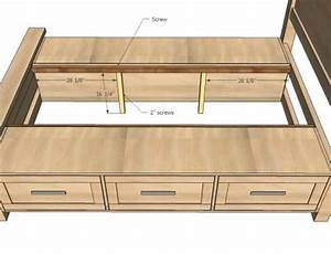 Woodwork King Size Platform Storage Bed Plans PDF Plans