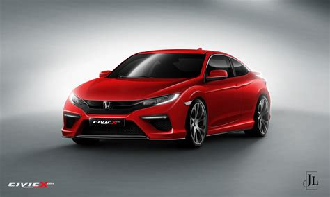 latest  honda civic coupe type  renderings
