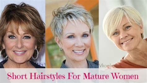 16 Best Short Hairstyles For Mature Women