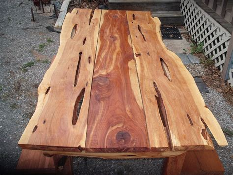 Live Edge Cedar Dining In Or Outdoor Picnic By Jamesrobinson