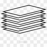 Paper Coloring Papers Clipart Stack Sketchbook Transparent Vhv sketch template