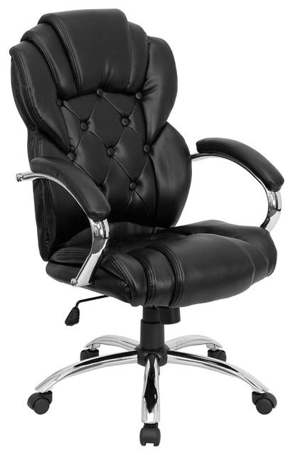 flash furniture high back transitional style black