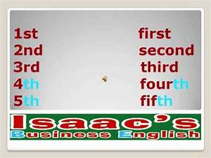 English lesson ORDINAL NUMBERS clases de Ingles YouTube