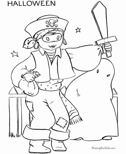 Halloween Coloring Pages Costume Printable Costumes Pirate
