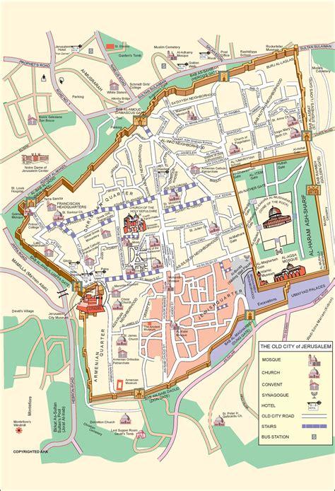 jerusalem city center map