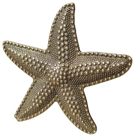 Glass Starfish Cabinet Knobs by House Starfish Drawer Knobs Brass Style