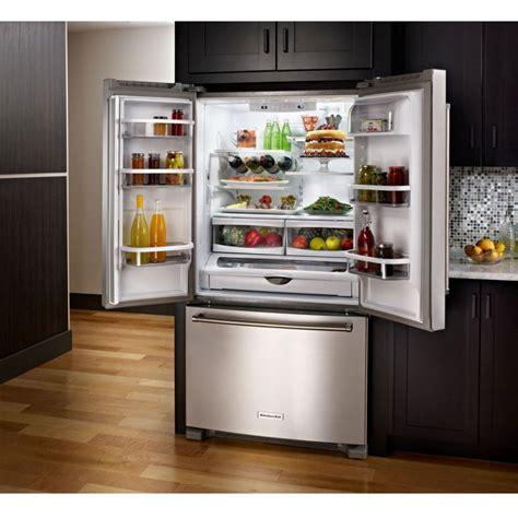 kitchen aid krffess  standard depth french door refrigerator  interior dispense