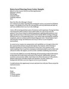 Entry Level Rn Cover Letter Entry Level Resume Sle Resume Genius