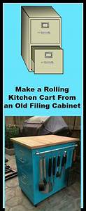 Make, A, Rolling, Kitchen, Cart, From, An, Old, Filing, Cabinet, U00bb, Jodeze, Home, And, Garden