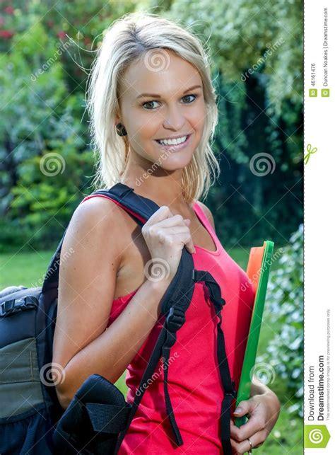 Hot Blonde Student Natural Tits