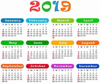 Calendar Colorful Transparent Yopriceville Clipart