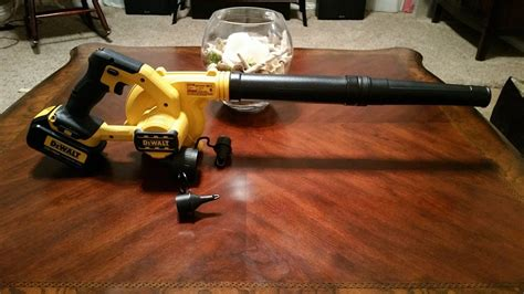 dewalt dce  blower pics video wbonus  cart